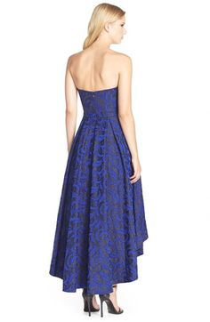 JS Collections Jacquard High/Low Ballgown | Nordstrom