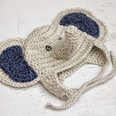 Repeat Crafter Me: Crocheted Free Baby Elephant Hat Pattern