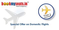 NEVER TO MISS OFFER to Book Online flight tickets! Book online flight tickets and get benefitted with the exciting offer of most discounted prices. To book discounted  online flight tickets, logon to www.bookmyseats.in