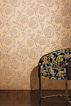 Versace Design Creamy Barocco #wallpaper #walldecor #vinylwallpaper Versace Home, Vinyl Wallpaper, Wall Treatments, Restaurant Design, Wall Decor, Classic, Home Decor, Wall Papers, Paper Envelopes