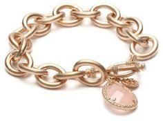 "Freida Rothman Belargo Jewelry ""Links"" Collection Rose Quartz Teardrop Heavy Links Bracelet Freida Rothman Belargo Jewelry. Save 8 Off!. $435.00"