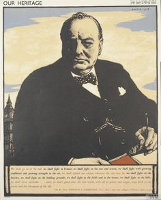 Winston Churchill England Prime Minister Portrait Vintage Poster Repro FREE S/H Kids Go Free, London Transport Museum, London History, Winston Churchill, Family Day, Art Google, Travel Posters, Vintage Posters, Transportation
