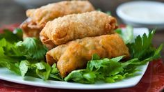 Buffalo Chicken Egg Rolls - I think I might try it with ranch instead of blue cheese and wing sauce instead of the pepper sauce. combining buffalo chicken and egg rolls has to be good! Vol Au Vent, Chicken Egg Rolls, Chicken Eggs, Chicken Wraps, Lime Chicken, Chicken Salad, Appetizer Dips, Appetizer Recipes, Chicken Appetizers