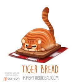 Daily+Paint+1577.+Tiger+Bread+by+Cryptid-Creations.deviantart.com+on+@DeviantArt