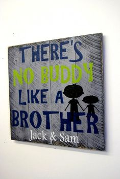 Boys Bedroom Custom Sign Personalized Wood Sign Theres No Buddy Like A Brother Gray Bedroom Decor Shabby Chic Rustic Farmhouse Chic Handmade - Boys Bedroom Custom Sign Personalized Pallet Theres No Buddy Like A Brother Gray Bedroom Decor Shab - Grey Bedroom Decor, Boys Room Decor, Kids Decor, Bedroom Ideas, Kids Bedroom Boys, Boys Playroom Ideas, Bedroom Vintage, Trendy Bedroom, Bedroom Wall
