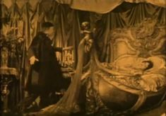 French singer and actress Gaby Deslys reportedly owned this wooden bed shaped like a swan, which was purchased by Universal's prop department at an estate auction after her untimely death in 1920. Here it's used in Phantom of the Opera (1943). Also in Sunset Blvd