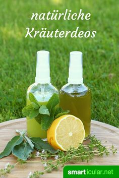 Natural deodorant spray with herbs and other plants .- Natürliches Deo-Spray mit Kräutern und anderen Pflanzen herstellen With natural ingredients, you can easily, quickly and inexpensively produce your own deodorant. Your own deodorant to your taste! Make Your Own Deodorant, Homemade Deodorant, Natural Deodorant, Belleza Diy, Tips Belleza, Beauty Secrets, Diy Beauty, Neutrogena, Make Natural
