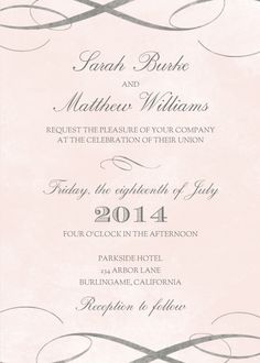 Distressed Pastel Wedding Invitations