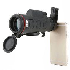 JINJULI 35X50 HD High Power Universal Clip Mini Monocular Telescope Lens For Smartphone