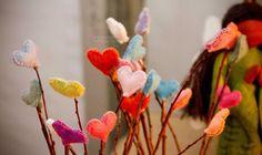 Felt Hearts by TippyLaLa on Etsy, $12.00