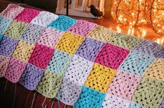 hopscotch lane: WIP: Patchwork Granny Blanket