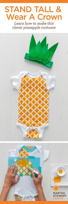 Learn how to make this clever pineapple costume for baby! Super easy peasy with Martha Stewart Crafts