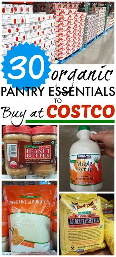 30 organic pantries for Costco This list of over 30 organic pantry essentials at Costco can help you be prepared to make delicious and nutritious meals without breaking your budget! - Experience Of Pantrys Vegan Costco, Costco Organic, Costco Shopping List, Bargain Shopping, Grocery Lists, Benefits Of Organic Food, Genetically Modified Food, Food Insecurity, Pantry Essentials