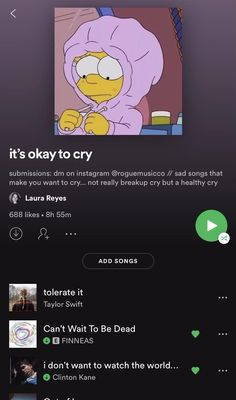 it's okay to cry on Spotify