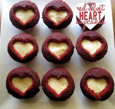 Red Velvet Heart Cupcakes