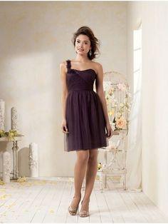 A-line One Shoulder Knee-Length Evening / Wedding Party / Bridesmaid Dresses