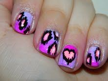 """My nail entry for the Beautometry & Polish Art Addiction """"V Day Nail Art Contest"""""""