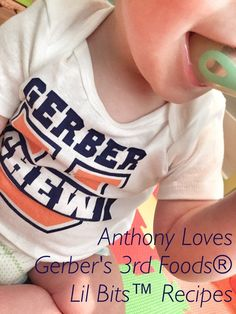 Babies who are ready to crawl are often ready to eat food with more texture to get them ready table food. Try Gerber® FOODS® Lil' Bits™ Recipes to help your baby learn how to chew. The Joys Of Motherhood, Baby Learning, Homemaking, Baby Food Recipes, Parenting Hacks, New Baby Products, Diy Ideas, Parties, Foods