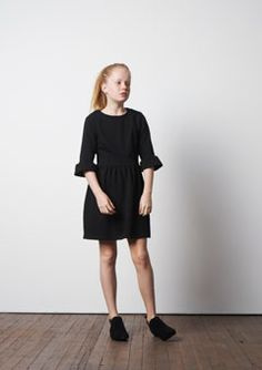 Fitted Terry Dress in black available from www.letween.com Brown Dress, Classic Outfits, Kids Wear, Tween, Dress Up, Dresses For Work, Fitness, How To Wear, Clothes
