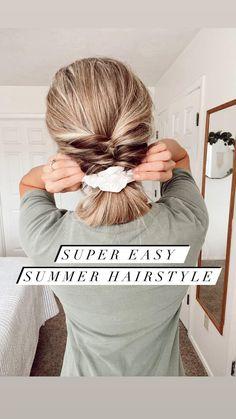Hairstyles For Medium Length Hair Easy, Work Hairstyles, Pretty Hairstyles, Medium Hair Styles, Short Hair Styles, Hair Medium, Easy Summer Hairstyles, Indian Hairstyles, Black Hairstyles