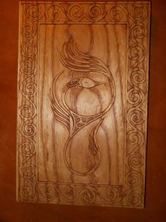 Beautiful celtic wood carving done by hand.
