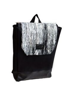 Black and White Hand-painted backpack – CROWDYHOUSE