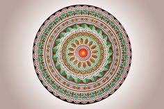 Ismael Pereira. Mandala, acrílica sobre cerâmica | Reproduçao fotográfica autoria desconhecida