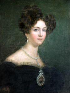 A Bela Amélia de Leuchtenberg com o casamento Amélia de Bragança.