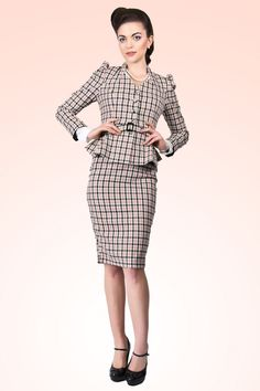Collectif Clothing - 40s Diana Parfait Check Blazer