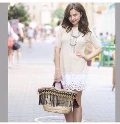 #zséda #outfitsoftheday #idea #white #streetstyle #style #onefashionagency #hungary Fashion Agency, Hungary, Lace Skirt, Street Style, Chic, Skirts, Outfits, Collection, Shabby Chic