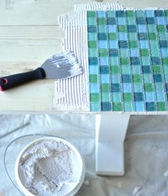 Tutorial for DIY tiled patio table. Could use this technique to rehab existing patio tables too. - Patio Table - Ideas of Patio Table Tile Patio Table, Mosaic Tile Table, Tile Tables, Patio Tiles, A Table, Porch Table, Tile Mosaics, Tiling, Wood Table