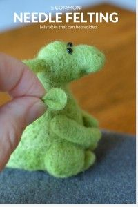 5 common needle felting mistakes that can be avoided when learning how to needle felt.