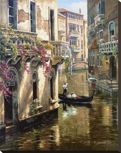 wall pictures for living room Landscape oil painting hand painted modern art Venice Afternoon Chat High quality Belle Image Nature, Venice City, Art Watercolor, Canvas Painting Landscape, City Landscape, Pictures To Paint, Wall Pictures, Painting & Drawing, Painting Tools