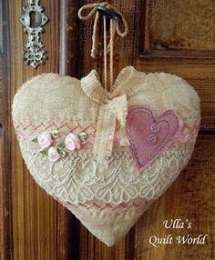De Ulla Quilt Mundo: acolchado corazones