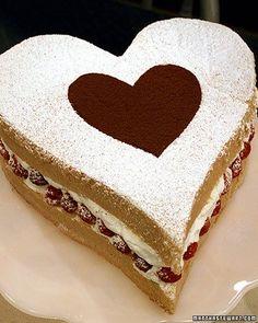 Valentine Cake, Recipe from Martha Stewart Living Television,
