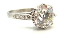 Timeless Edwardian Era Old European Cut Engagement Ring   From a unique collection of vintage engagement rings at http://www.1stdibs.com/jewelry/rings/engagement-rings/