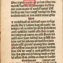 """Detaliu din lucrarea """"Eyn manung der cristenheit widder die durken"""" """"Un avertisment creştinilor, împotriva turcilor"""" 1454. Cousins, Aries"""