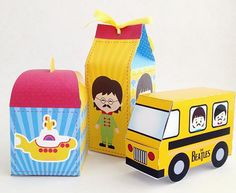 The Beatles Birthday Party Ideas (Festa dos Beatles) Beatles Birthday Party, Birthday Parties, Festa Yellow Submarine, Festa Party, The Beatles, Wooden Toys, Hey Jude, Party Ideas, Crafts