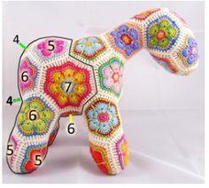 """"""" El Encanto del Crochet """": PONY FLOR AFRICANA"""