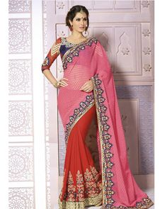 Buy Pink Kavyanjali Georgette at happydeal18.com, India's biggest shopping store