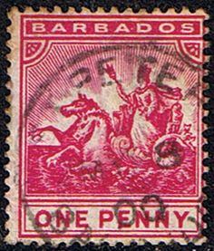 Barbados 1892 Seal of the Colony SG 107 Fine Used SG 107 Scott 72 Other West Indies Stamps HERE