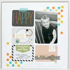 Stampin' Up! - Display Boards - 2014 - Project Life Scrap Page #1 - Sarah Sagert - www.sarahsagert.stampinup.net/blog