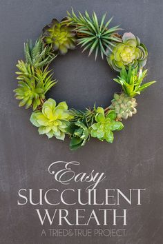 Easy Succulent Wreath - A Tried & True Project