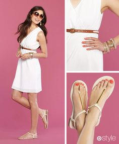 White Hot  The go-to color for instant luxe.  own it: dress. sandals. shop accessories in store.