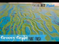 How to paint Wood Grain in layers with chalk type paint - YouTube