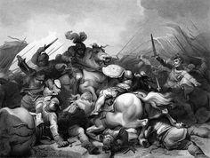 In questa immagine è rappresentata la battaglia di Bosworth Field, che vide la morte di Riccardo di York.