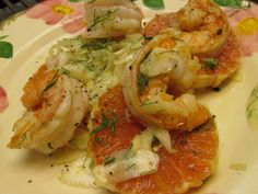 Shrimp and Orange Salad with Shaved Fennel and Mint from Rick Trout's Kitchen, now available in ebook and print at www.bread-and-salt.com