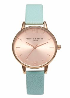 Buy Olivia Burton Midi Dial Black & Rose Gold Watch at Hugh Rice Jewellers. Free delivery on Olivia Burton. Black Jewelry, Rose Gold Jewelry, Leather Jewelry, Gold Jewellery, Gold Leather, Olivia Burton, Turquoise Rose, Pink Watch, Rose Gold Watches