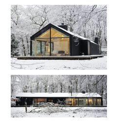Modern Barn House, Modern House Design, Weekend House, Cabins And Cottages, Cottage Design, Cabin Homes, Exterior Design, Building A House, Architecture Design