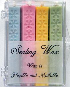 Pastel Assortment Flexible Sealing Wax (with wick) - 4 Sticks $14.00